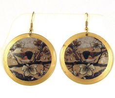 $23.99 Asian Bird Scene Earrings #jewel