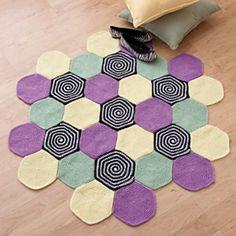 libraries, rug patterns, spirals, crochet, spiral rug, magazines, rugs, hexagons, ravelry