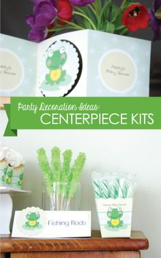 Party Decoration Ideas: Personalized Centerpiece Kits | DIY Party Decorations - Decorating Kits #BigDot #HappyDot #Spring