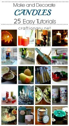 Making Candles (25 DIY Candle Making  Decorating Tutorials)