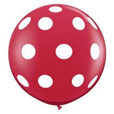 "36"" Round Polka Dot Balloon - Red for $7.00 from The TomKat Studio Party Shop"