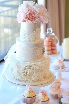 Pink + Gold Wedding Dessert Table via Kara's Party Ideas KarasPartyIdeas.com Cake, desserts, supplies, tutorials, and more! #pinkandgold #weddingdesserttable #weddingideas (5)