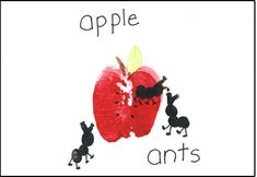 Fingerprint Ants:  Children would love making ants after listening to a story about ants at a picnic.  Doing an apple print also would support the theme.  This activity could also be used for an A-themed lesson.