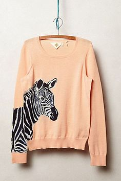 Zebra Pullover Sweater {cute for spring}