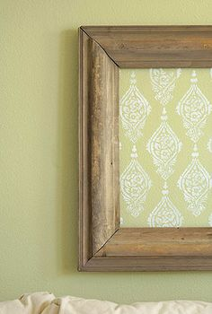 DIY frame wall stenciling #diy #apartment #decor