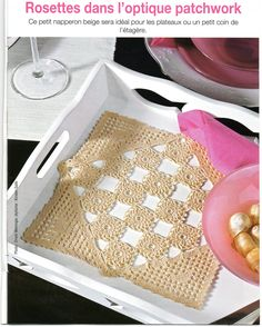 lace crochet design inspiration from the magazine Sabrina Tous les Ouvrages, issue #123