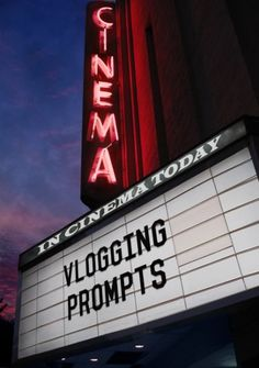 vlogging prompts!