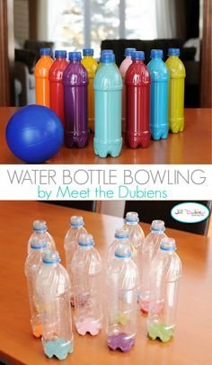 Water Bottle Bowling - a great way to keep the kids entertained!