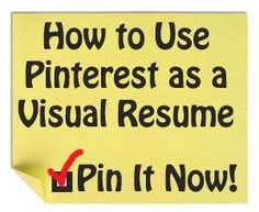 Ways to use Pinterest as a visual resume