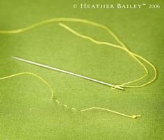 Hand Sewing Knot