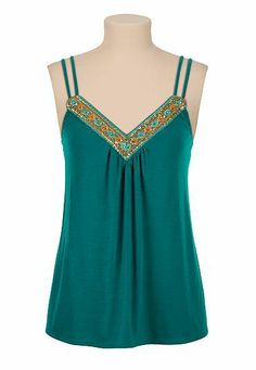 Sequin embellished slub knit tank (original price, $26) available at #Maurices
