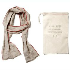 Apolis + Matteo Linen Scarf, Natural