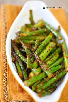 Indian style Asparagus...@Spiceroots !