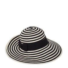 sun stripe floppy hat