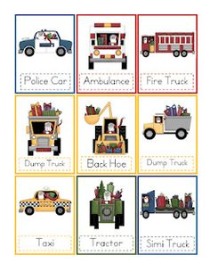 Preschool Printables- transportation theme