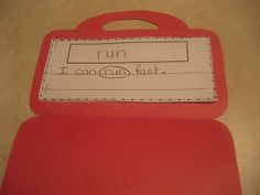 Sight word suitcase