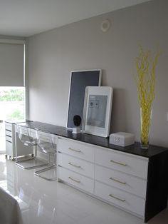 the life improvement project by Ikea & Oprah, ikea hack, dresser desk combo