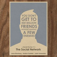 16x12 The Social Network Movie Poster Print by MonsterGallery, $18.00