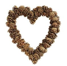Pinecone Heart Wreath