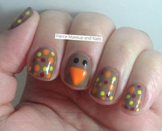 thanksgiving turkey, beauti queen, thanksgiv nail, color, art post