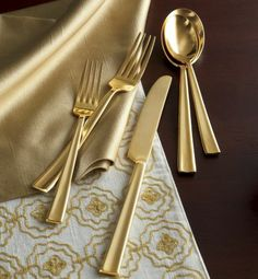 Kylie Gold-Plated Flatware, 20-Piece  $47.95