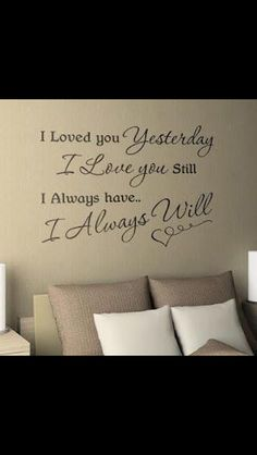 I would love the master bedroom to have something like this but with Scripture. Our beliefs in Christ are what make us into the people we are today, so this would add the perfect touch.