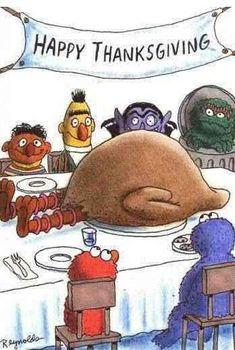 holiday, funni, big bird, happi thanksgiv, humor