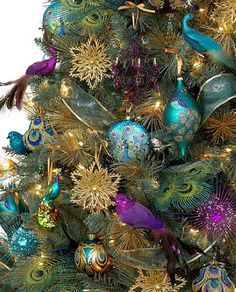 Peacock Christmas Tree