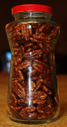 Sweet and Spicy #Pecans recipe with cumin, cinnamon, brown sugar