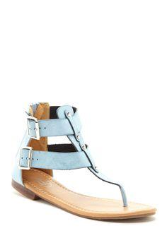Closed Heel Buckle Strap Sandal//