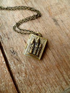 fairytale book locket - love