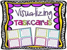 Free Visualizing Reading Skill Task Cards Mini-Set!