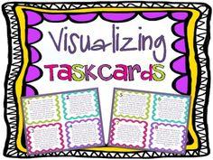 Free Visualizing Reading Skill Task Cards Mini-Set!