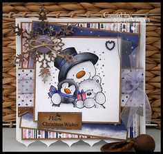 Snowman Hugs ~ Wild Rose Studio