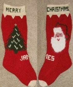 knit christmas stocking patterns | Christmas Stocking Knitting Pattern