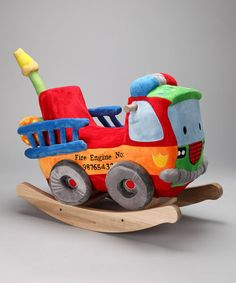 Take a look at this Blaze Fire Engine Rocker by Rockabye on #zulily today!