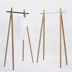 Simple, lovely clothing rack.