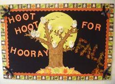 idea, teach prekindergarten, classroom bulletin, fall bulletin boards, blog, preschool, owls, school board