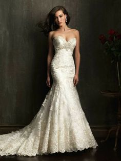 Fall 2013!  Allure Wedding Dresses - Style 9051 [9051] #wedding #dresses