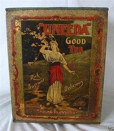 antique tea tins