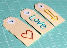hand-stitched tags from www.polkadotcreative.com.au  Jodie Allan York