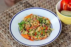 Zucchini Noodles with a Thai Peanut Sauce a.k.a Zucchini Noodle Pad Thai #unprocessed