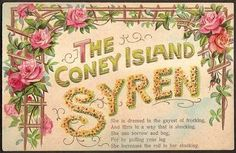 Coney Island Syren Postcard Dirty Limerick Prostitute Risque Poem