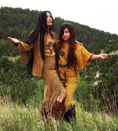 Junal Gerlach -Top Native Model/Actress -with her daughter Ina King- Modeling Tribal Impressions Hanna Top, Matching Fringed Skirt and Five Layer Minnetonka Zipper Boots! Review The Collections off of: http://www.indianvillagemall.com