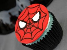 Simply Suzanne's Spider-man Cupcakes - #spiderman