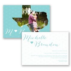State of Bliss Wedding Invitation by David's Bridal #davidsbridal #weddinginvitations