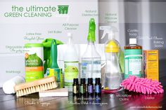 Love this! Create your own all-natural cleaning caddy full of powerful, yet non-toxic cleaners. The Ultimate Green Cleaning Caddy via A Bowl Full of Lemons