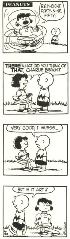Charlie Brown: But is it art?