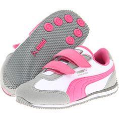 $40 Puma Kids Whirlwind V (limestone/white/azalea)  (shoes for addie)