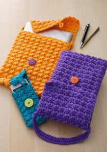 Caron International   Free Project   Cell Phone or Tablet Cozy
